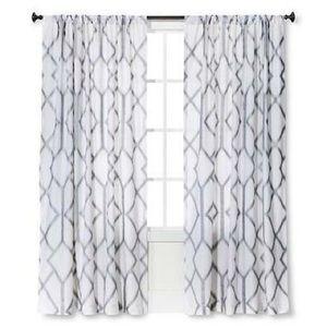 Set of 2 Metallic Trellis Window Panels